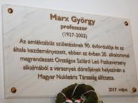 Marx György emléktábla avatás